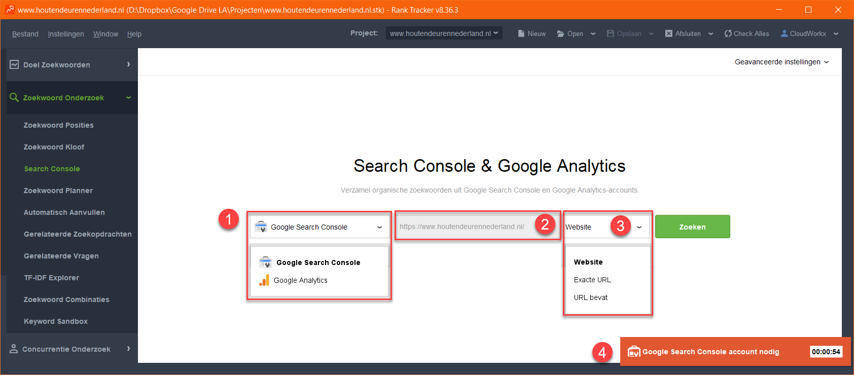Search Console & Google Analytics